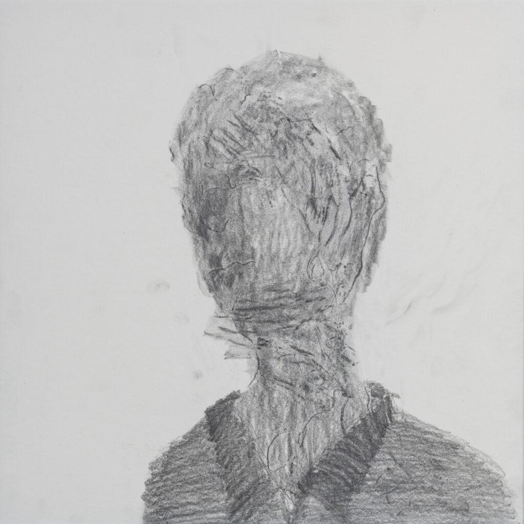 Cast,2017,frottage,pencilonpaper,40×40cm