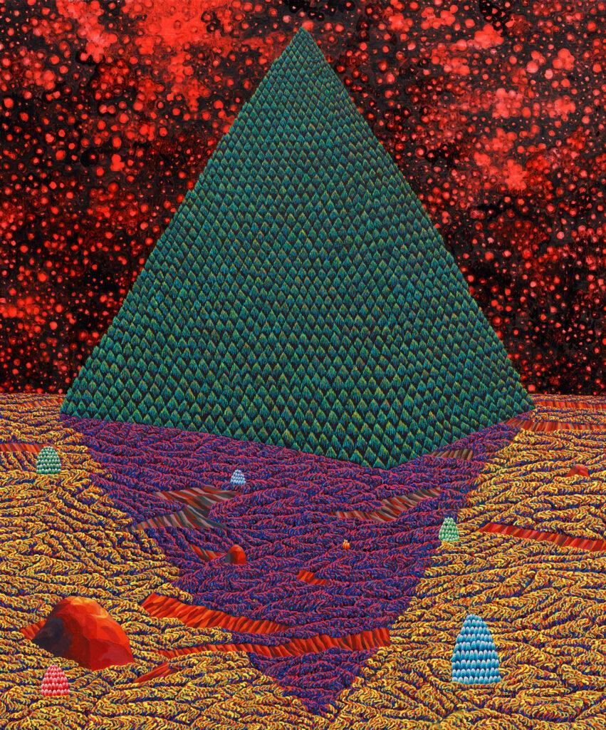 TwinsofNatureandFigures,2016,acrylicandoiloncanvas,72.4×60.6cm