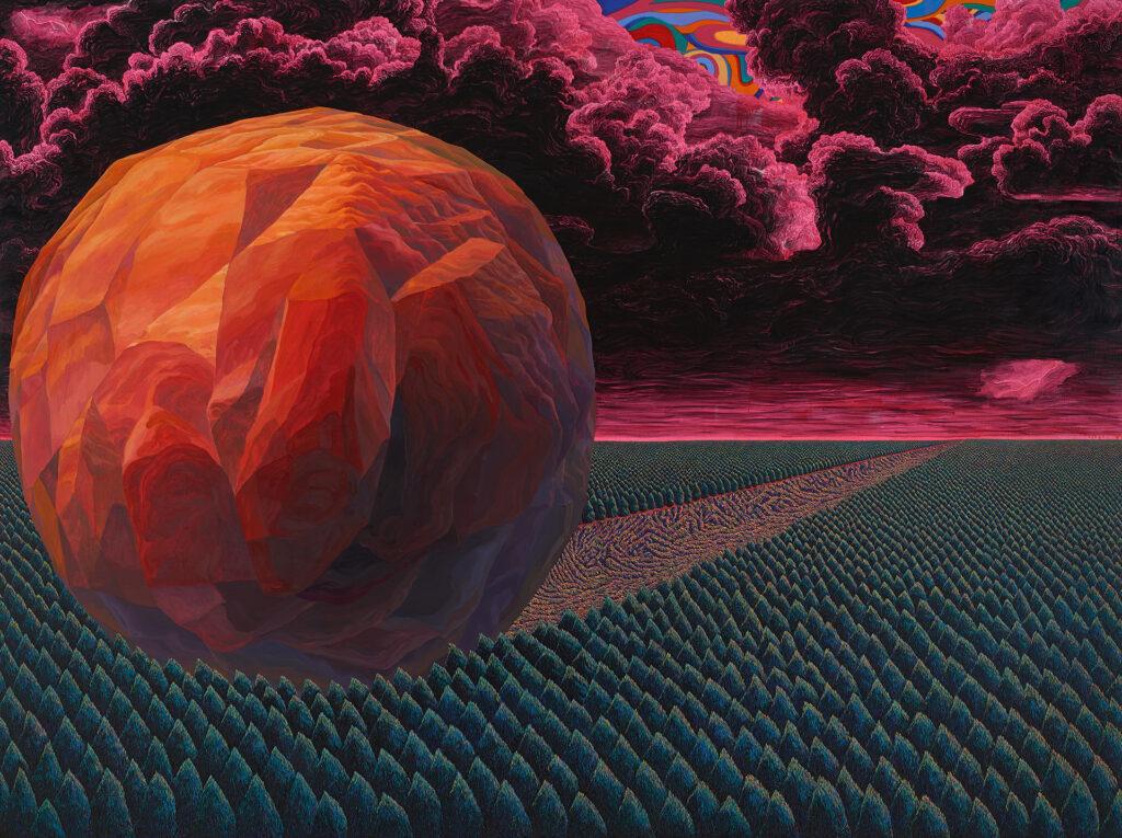 MovingStone,2014,oiloncanvas,218.2×291.6cm