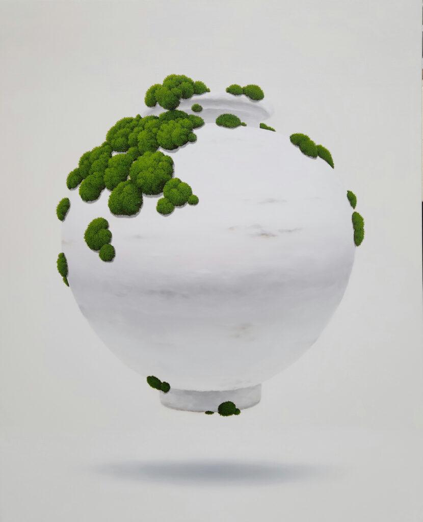 Jar_Moss,2020,oiloncanvas,100×80.3cm