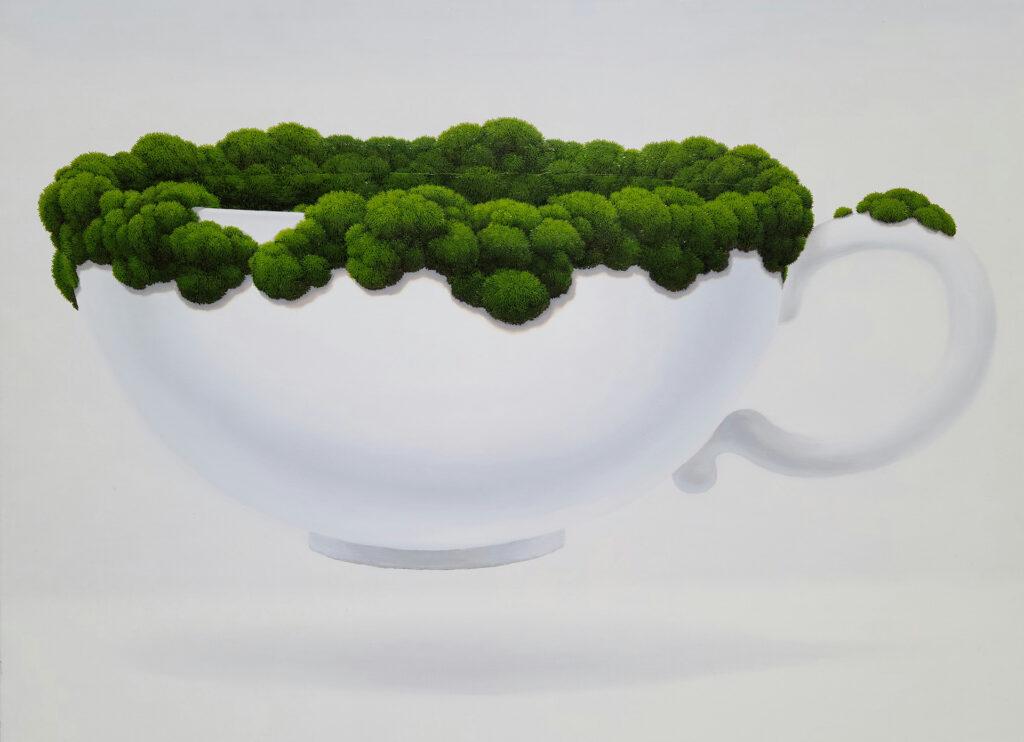 CoffeeCup_Moss,2020,oiloncanvas,116.8×91cm